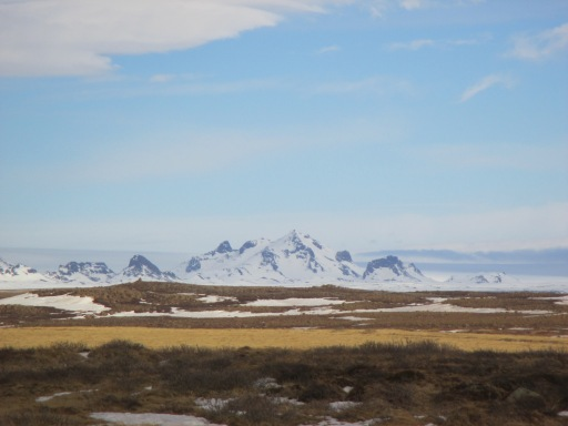 Sharp Mountain in Blue